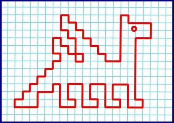 Графический диктант: дракон