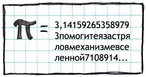 Карикатурное изображение числа Пи