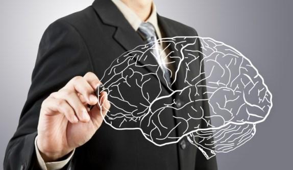 Мозг, нарисованный карандашом